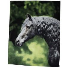 fleecová deka s motivem fríského koně